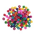 CBW10 Wood Beads 10mm Assorted: 5 Packs of 100